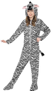Zebra Costume, includes all in one jumpsuit with Hood.