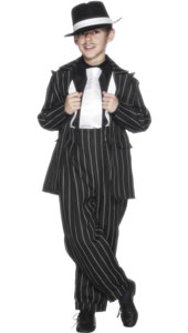20s Zoot Suit Costume, includes jacket, trousers and braces. HAT NOT INCLUDED - SOLD SEPARATELY.