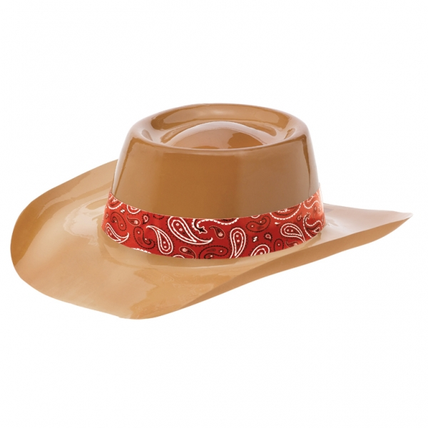 Brown Plastic Cowboy Hat Fancy Dress Costumes   Party Supplies ... df70f0dafe0