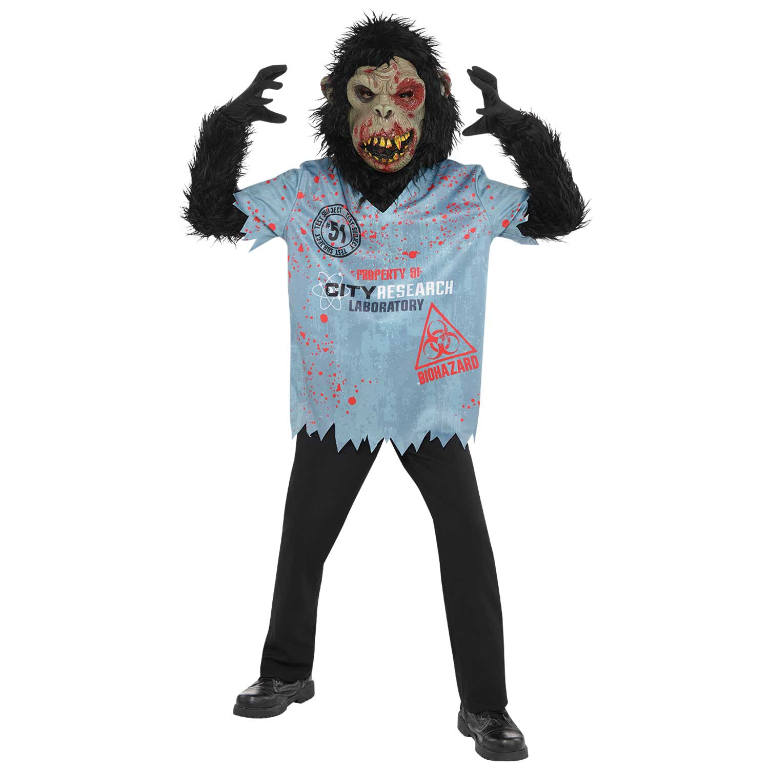 boys teens teenagers zombies chimps chimpanzees monkeys costumes  sc 1 st  Little Star Parties & Chimp Zombie Boy Costume Fancy Dress Costumes u0026 Party Supplies ...