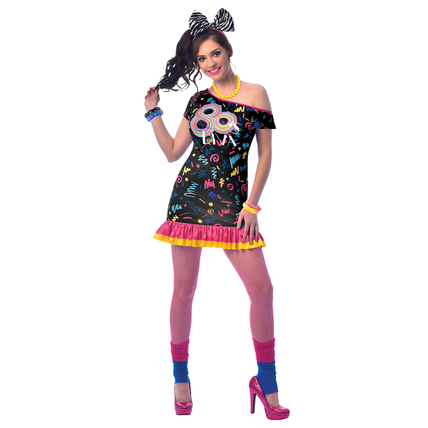 80s girl costume fancy dress costumes  party supplies