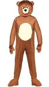 Bear Mascot Costume include jumpsuit and head