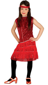 Red Charleston Costume includes dress and headband.