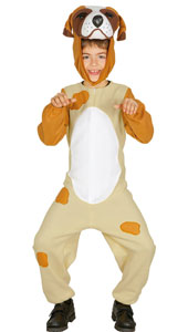 Child Puppy Costume includes jumpsuit and hood.