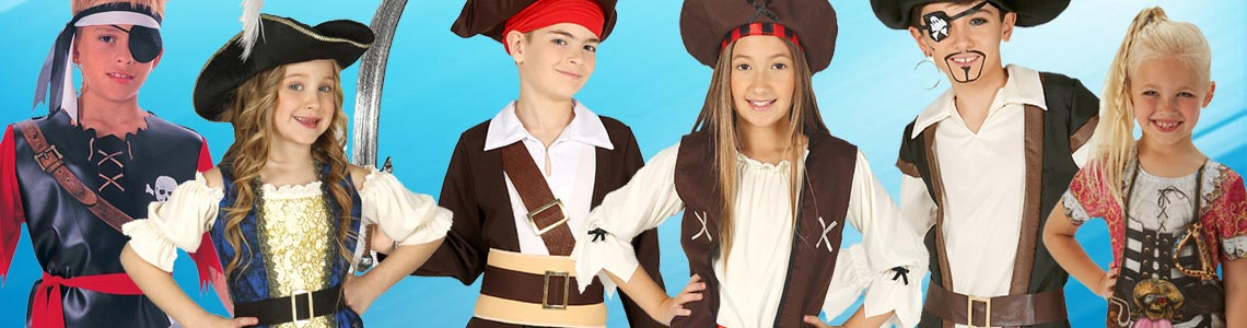 Inflatable Sword Kids Fancy Dress Boys Pirate Costume Kit Pirate Hat with Hair