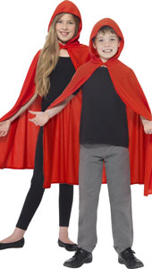 Red Hooded Child Cape