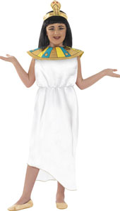 Horrible Histories Egyptian Girl Costume includes tunic, headpiece and collar.