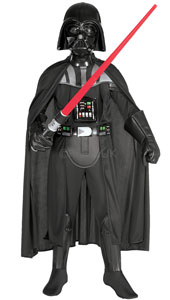 This superbly detailed Darth Vader outfit captures all the magic of the Star Wars original. Once hidden inside its sinister black armour, there's no telling what powers you will unleash. Use the Force and avenge the Death Star!