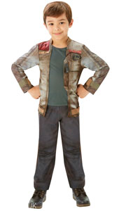 Star Wars The Force Awakens, Deluxe Finn Costume.  Printed top with mock jacket and trousers.