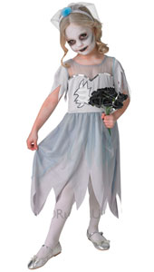 Scary is the best look at Halloween and they don't come much more spooky that this dearly departed bride.   Contains dress and headband