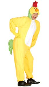 Adult Chicken Costume includes jumpsuit with Hood.
