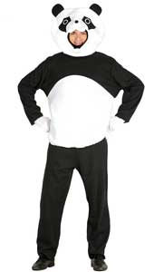Panda Costume includes hood, shirt and trousers.