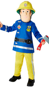 Fireman Sam. Includes top, trousers, character mask & axe.