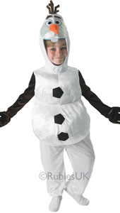 Frozen Olaf all in one costume.  Olaf, the star snowman from the movie Frozen.
