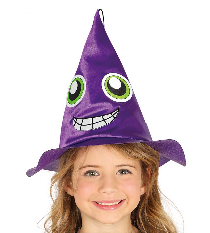 Child Purple Witch Hat Fancy Dress Costumes & Party Supplies Ireland ...