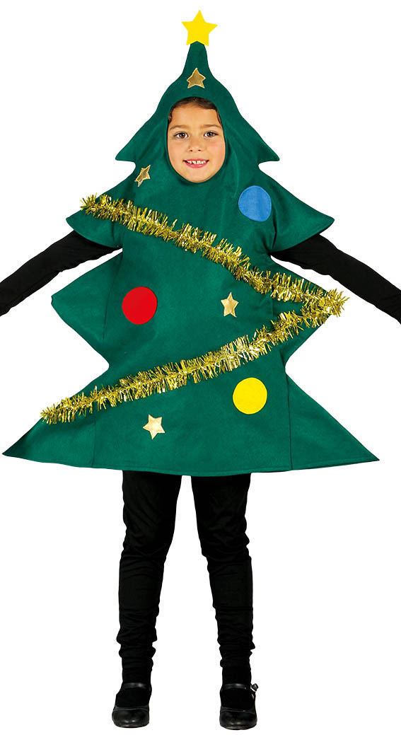 Child Christmas Tree Costume Fancy Dress Costumes Party Supplies