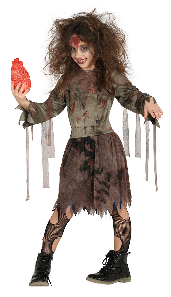 Halloween Zombie Costumes For Girls.Zombie Girl Costume