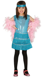 Blue Charleston Costume includes dress and headband.