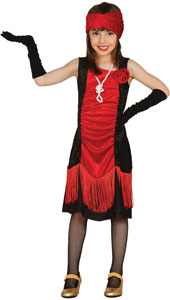 Child Charleston Costume includes dress and headband.
