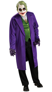 Spook your friends with this chilling interpretation of DC Comics' bad guy, The Joker, as embodied by Oscar-winning actor Heath Ledger in The Dark Knight. A favourite for Halloween, it's perfect for any spooky occasion.