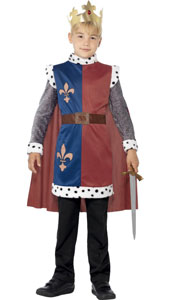King Arthur Medieval Tunic complete with attached cape and crown