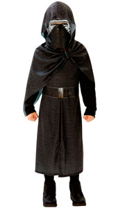 Star Wars The Force Awakens Deluxe Kylo Ren Costume.  Printed hooded robe and 1/2 mask.