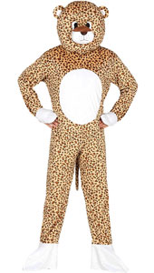 Leopard Mascot Costume include jumpsuit and head
