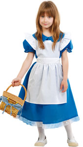 Little Girl Blue Costume includes dress and apron