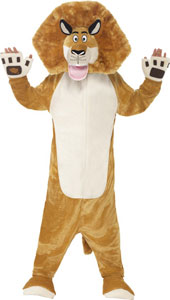 Madagascar Alex the Lion Costume includes all in one costume and padded head.