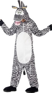 Madagascar Marty the Zebra Costume includes all in one costume and padded head.