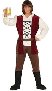 Medieval Innkeeper Costume includes shirt  trousers  belt and boot covers