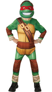 Take your pick of the Half Shell Heroes with this clever suit that includes each of the Turtles coloured masks. You can be Michelangelo, Donatello or any other. Baddies better beware as you stop evil in its tracks: Booyakasha