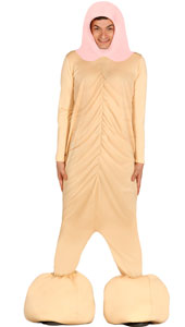 Penis Costume includes jumpsuit hood and feet
