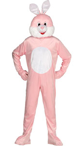 Pink Rabbit Mascot Costume include jumpsuit and head