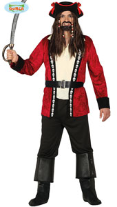 Pirate Costume includes jacket  trousers  belt and hat