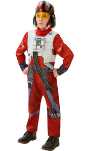 Star Wars The Force Awakens Deluxe Poe  (x-wing fighter). Printed, padded chest jumpsuit with 3D panel and 1/2 mask.