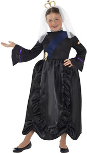 Horrible Histories Queen Victoria Costume includes dress and headpiece.