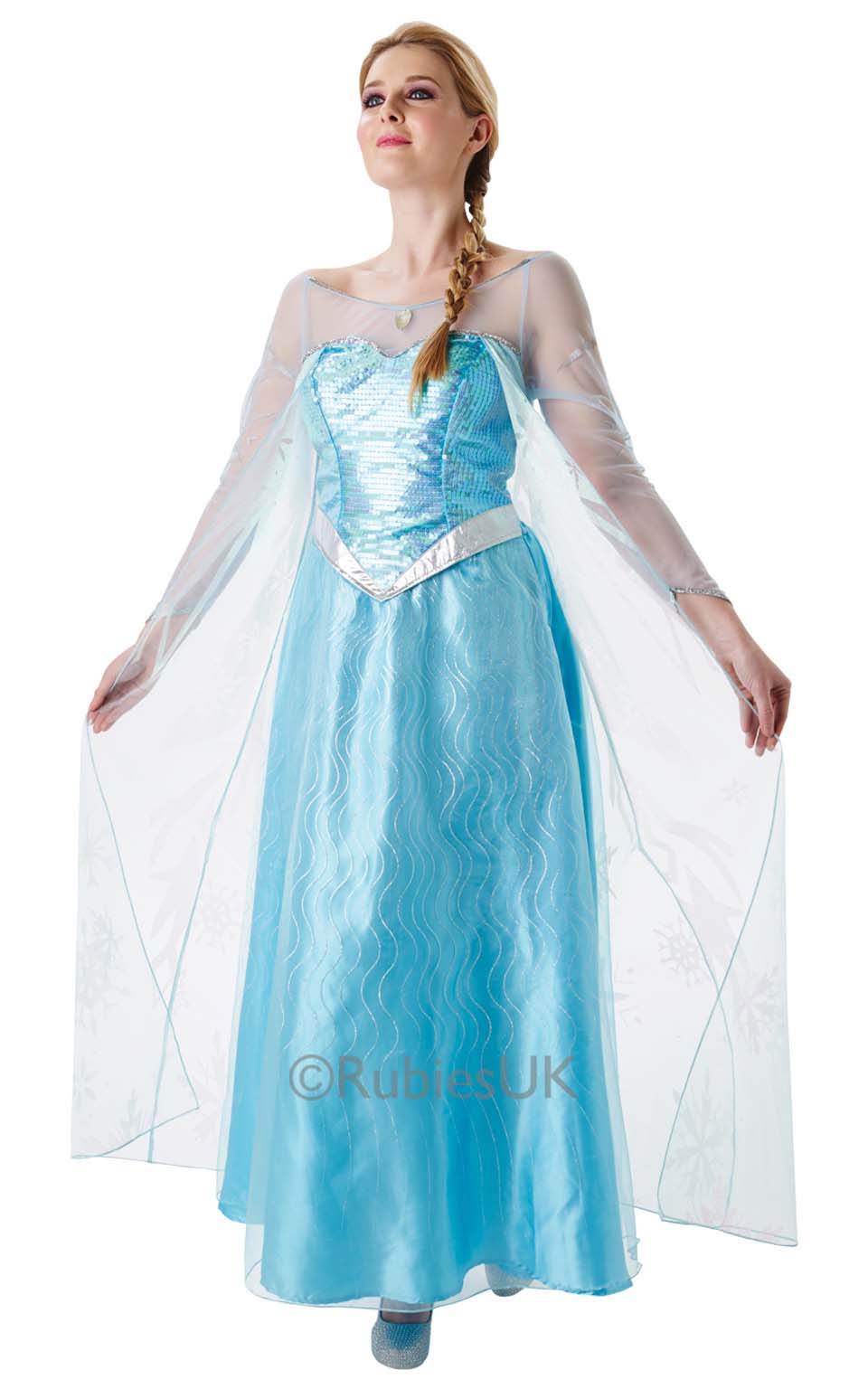 ladies frozen costumes ladies frozen elsa costumes  sc 1 st  Little Star Parties & Frozen Elsa Adult Costume Fancy Dress Costumes u0026 Party Supplies ...