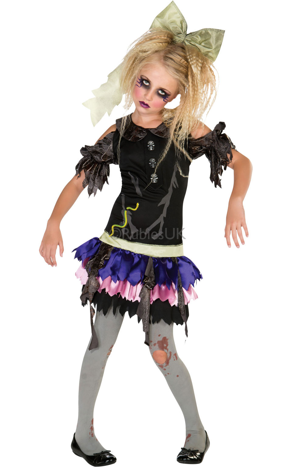 girls halloween zombies dolls costumes  sc 1 st  Little Star Parties & Zombie Doll Costume Fancy Dress Costumes u0026 Party Supplies Ireland ...