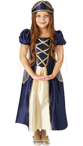 Girls Renaissance Princess Costume includes dress and headpiece.