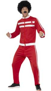 Scouser Tracksuit, Red & White, with Jacket & Trousers