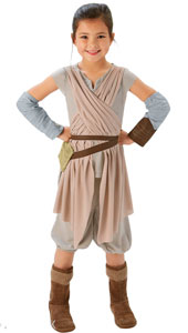 Star Wars The Force Awakens Deluxe Rey Costume.  Tunic, shorts and gauntlets.