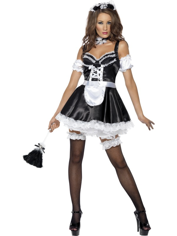 Flirty French Maid Costume Fancy Dress Costumes & Party ...