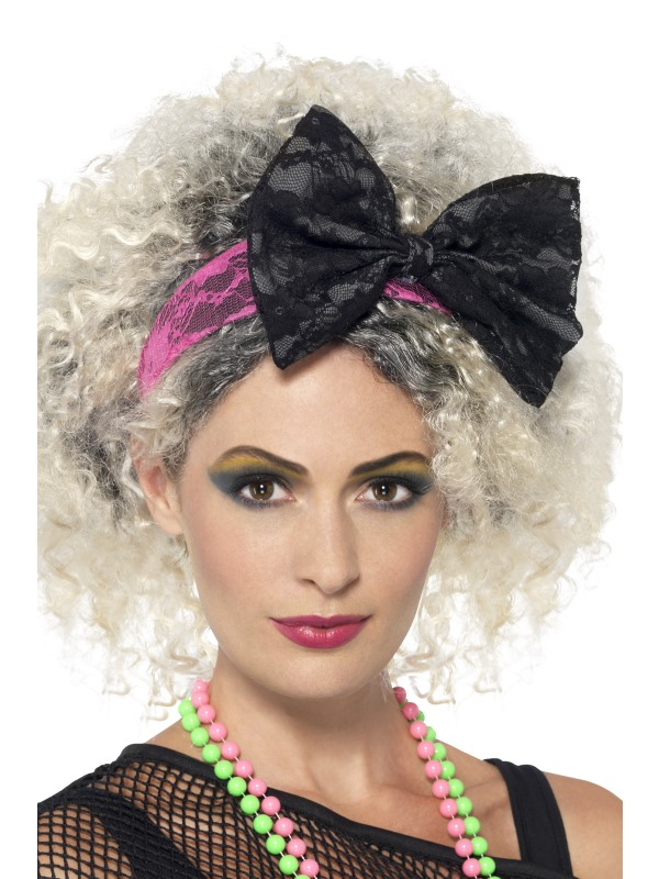 80s Lace Headband Fancy Dress Costumes   Party Supplies Ireland ... 9562d597506