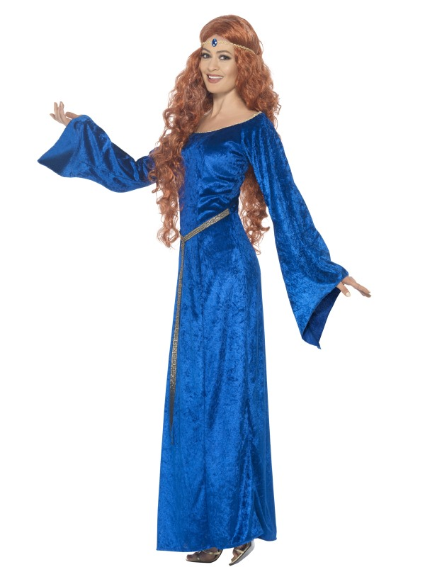 Medieval Maid Blue Costume Fancy Dress Costumes   Party Supplies ... 258be21f9e