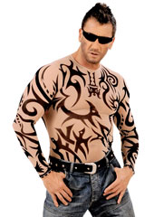 Tribal Tattoo Natural Look Shirt