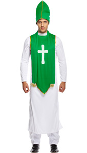 St Patrick Costume includes tunic, hat and scarf.