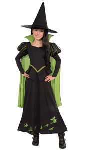 Wicked Witch Of the West Costume. Contains Dress with attached cape & Hat.
